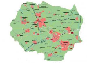 Kaart Twente